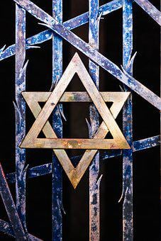 Star Of David, Judaism, Grid, Thorns, Kz, Dachau