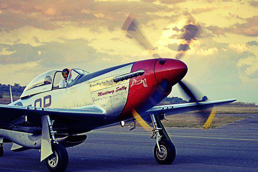 Mustang, P-51, Airplane