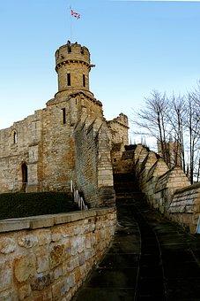 Lincoln Castle, Castle, Stone, Old, Architecture