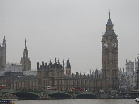 Beg Ben, London, Westminster, Ben, Parliament, Big