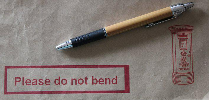 Envelope, Pen, Pillar Box, Mail, Post, Office Material