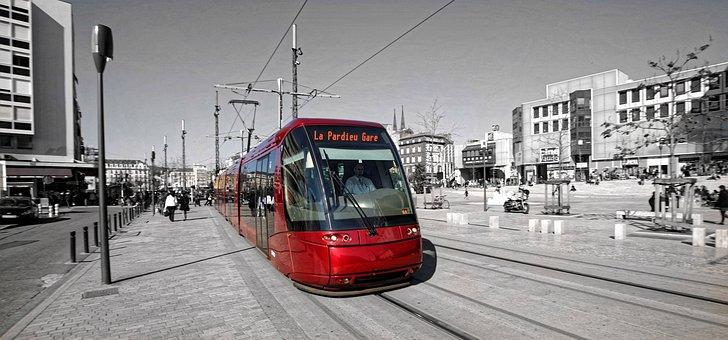 Tram, Clermont, Public Transport, Auvergne, France