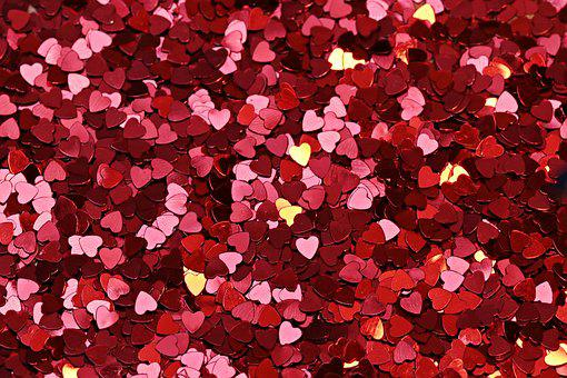 Background, Texture, Heart, Red, Red Heart, Shine