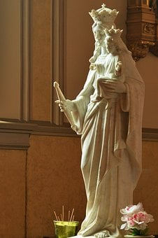 Statue, Mary, Religious, Religion, Christian, Sculpture