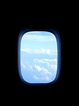 Aircraft, Window, Fly, Clouds, Sky, Blue, View, Flyer