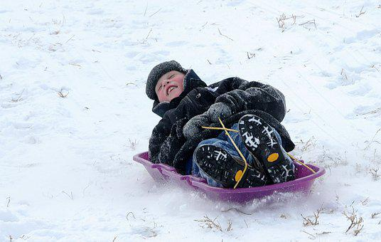 Snow, Winter, Cold, Sledding, Season, Fun, Happy, Child