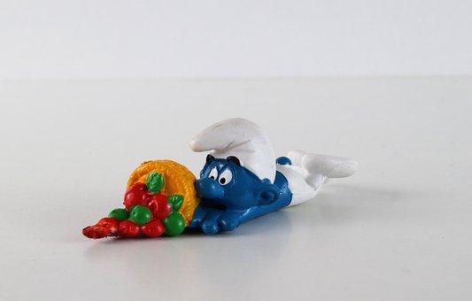 Smurf, Smurfs, Stumbling Schlumpf, Figure, Toys