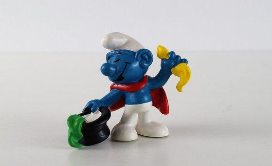Smurf, Smurfs, Wizard Schlumpf, Figure, Toys