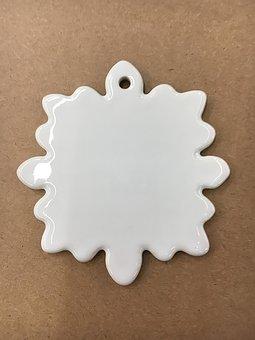 Snowflake Ornament, Ceramic Ornament