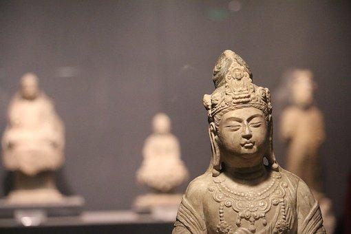 China Wind, Buddha, Buddhism, Statues, Stone Art