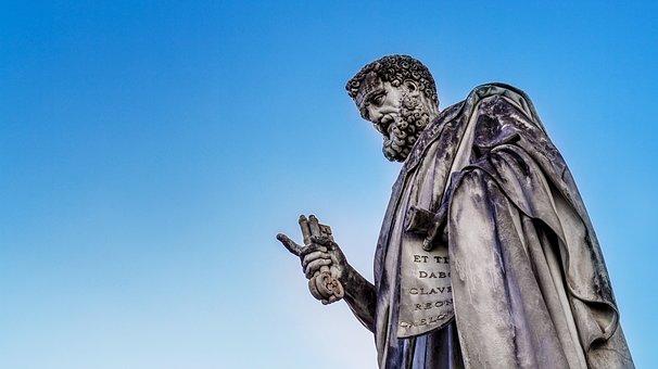Statue, Priest, Ancient, Rome, Vatican, Architecture