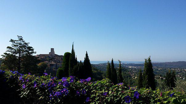 Sky, St Paul De Vence, Old, Blue, View, France