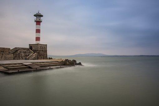 Port, Lighthouse, Sea, Coast, Water, Landmark, Harbor
