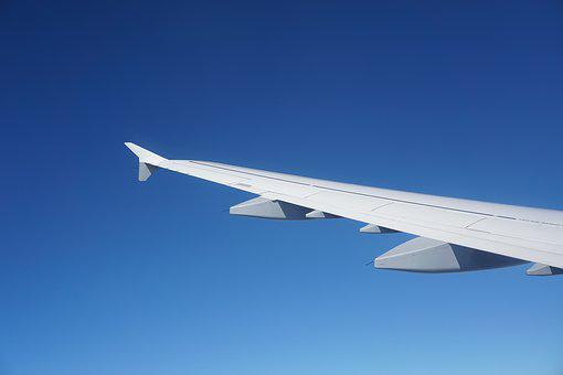 Aircraft, Sky, Wing, Blue, No Clouds, Flight, Cabin