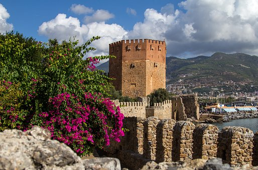 Turkey, Alanya, Tower, Port, Building, Turkish Riviera
