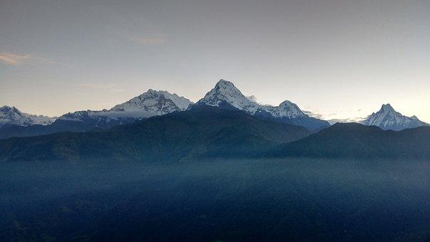 Annapurna, Range, Landscape, Mountain, Peak, Himalaya