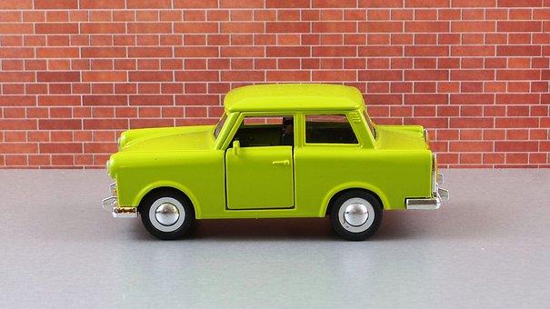 Model Car, Satellite, Auto, Ddr, Trabi, Trabant 601