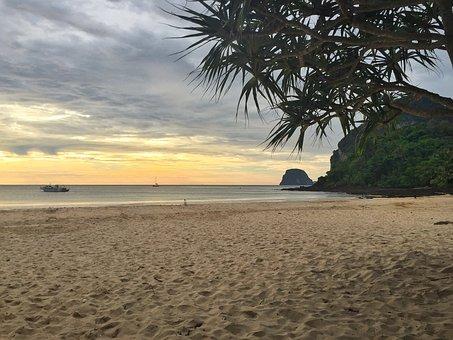 Sunset, Beach, Ocean, Sea, Beach Sunset, Sky, Sunrise