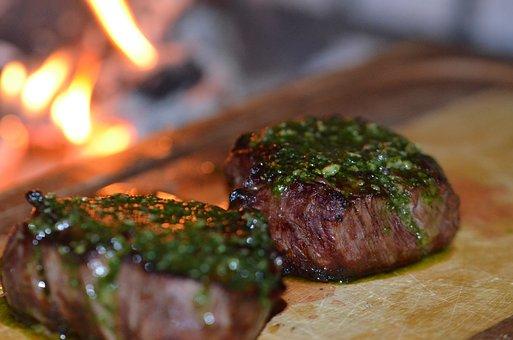 Fillet, Beef, Beefer, Pesto, Fire, Beef Steak, Meat
