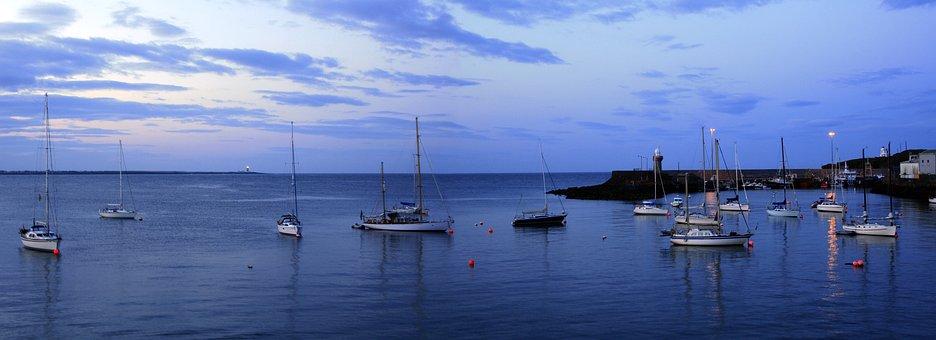 Dunmore East, Waterford, Ireland, Harbour, Boat, Ocean