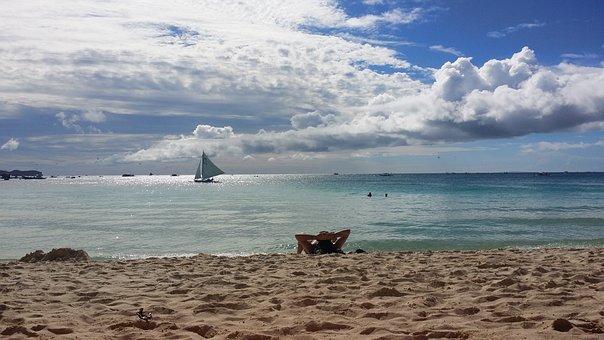 Boracay, Beach, Break, Yacht, White Beach, Travel