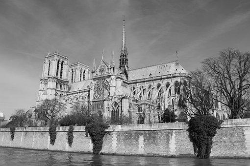 Paris, Cathedral, Notre Dame De Paris, France, Church