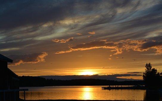 Landscapes, Sunset, Summer, Nature, Himmel, Sky, Cloud