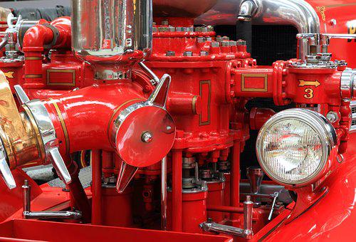 Germany, Speyer, Technik Museum, Fire, Engine, Truck