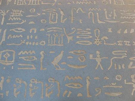 Hieroglyphs, Egypt, Champollion, Figeac, France