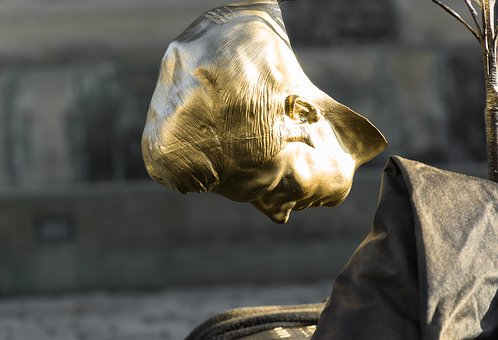 Mask, Art, Golden, Gold