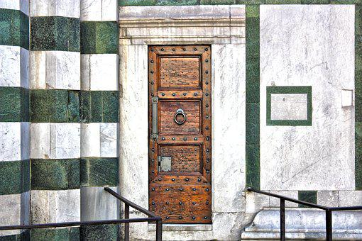 Door, Wood, Marble, Baptistery, Florence, Iron, Ancient