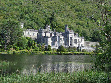 Castle, Ireland, Land, Kylemore Abbey