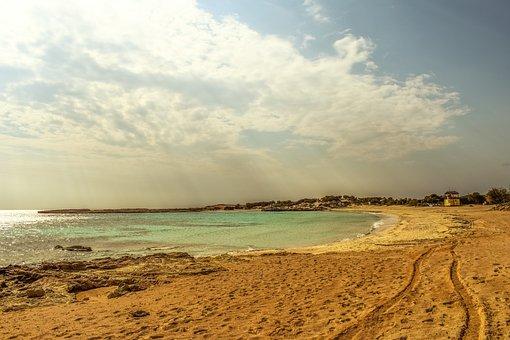 Beach, Sea, Sky, Clouds, Morning, Scenery, Landscape