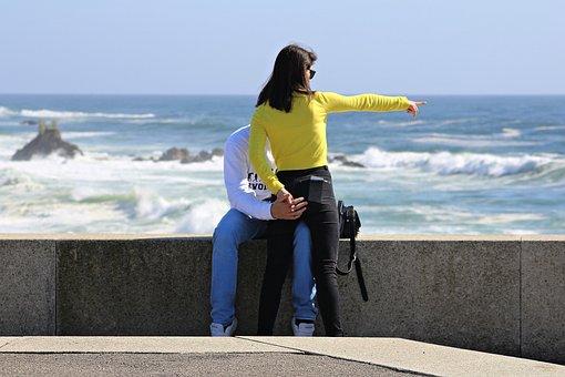 Sol, Mar, Beira Mar, Waves, Boyfriends, Woman, Water
