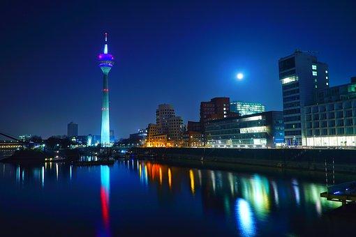 Düsseldorf, Media Harbour, Architecture, Modern