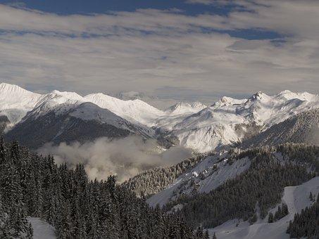 Mountains, Snow-capped Peaks, Alps, Mountain Landscape