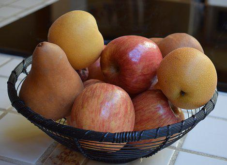 Apples And Pears, Fruit, Food, Natural, Healthy, Fresh