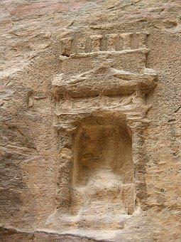 Petra, Jordan, Near East, Sculpture, Cave, Nabataeans