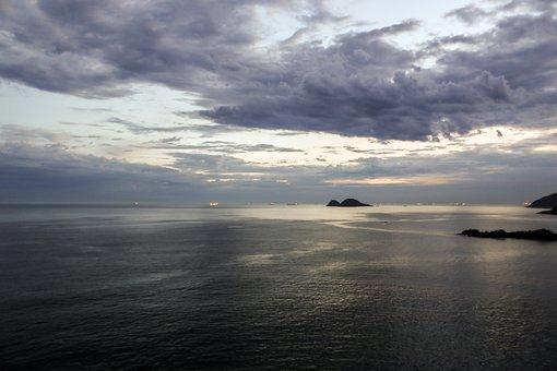 Sea, Beach, Landscape, Sky, Ocean, Summer, Water