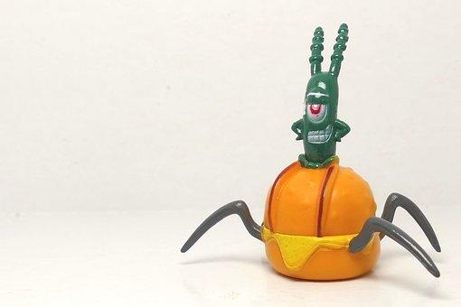 Plankton, Character, Green, Spongebob Squarepants