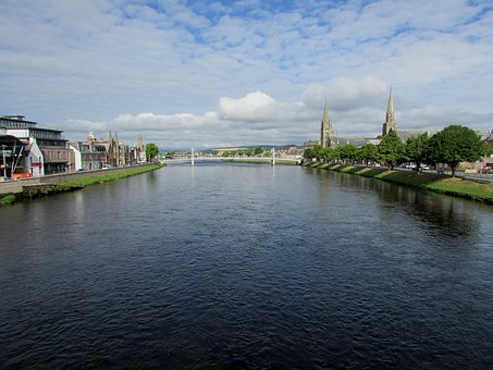Scotland, Inverness, River, Ness, Scottish, Highland