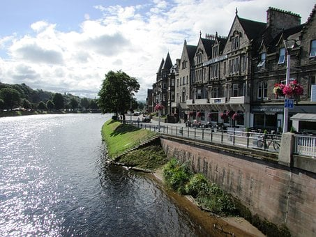 Inverness, River, Ness, Scotland, Scottish, Highland