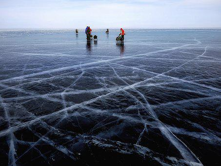 Icy, Ice Rink, Lake, Winter, Baikal, Siberia, Russia