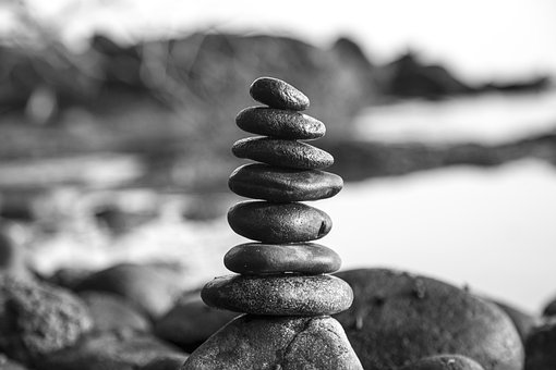 Stones, Black And White, Tower, Patience, Stone, Nature