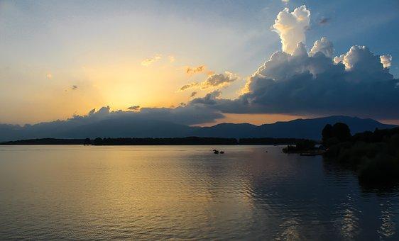 Lake, Sunset, Kazanlak, Bulgaria, Koprinka, Water
