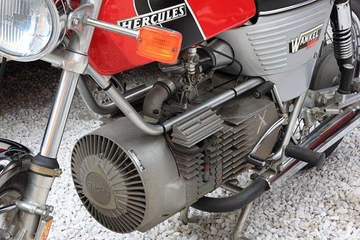 Germany, Speyer, Technik Museum, Motorcycle, Motor