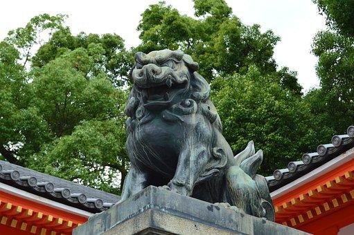 Japan, Statue, Dragon, Garden, Temple, Trim, Zen
