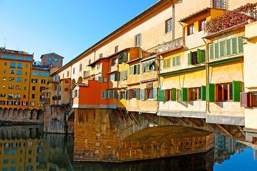 Ponte Vecchio, Bridge, Old, Florence, Italy, Tuscany
