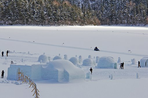 Lake, Frozen, Shikaribetsu, Freezing, Afternoon, Winter