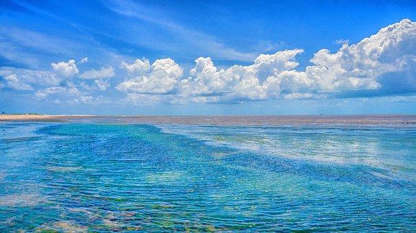 Mar, Beach, Litoral, Beira Mar, Speedboat, Boat